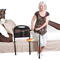 Stander 5850Barra para transferencia de cama Mobility Rail con un apoyo de suelo