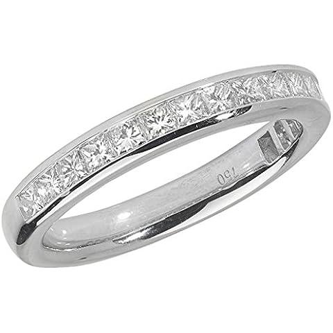 Ariel-Anello in platino con diamanti incastonati a canale