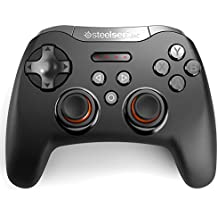 SteelSeries Stratus XL - Controlador de juegos inalámbrico, bluetooth, 14 botones, (Windows / Android / Samsung Gear VR / HTC Vive / Oculus), color negro