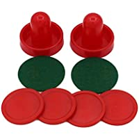 Lordpoll-ES Home Standard Mini Air Hockey Reemplazo 60/76/96 mm 2 Pusher Goalies 4 Pucks Set de Fieltro para mesas de Juego Equipos MUA
