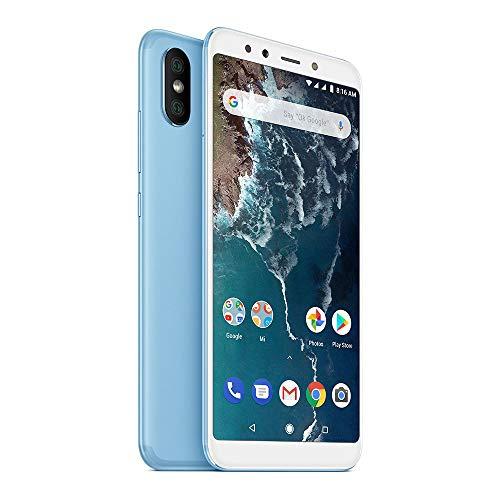 "Xiaomi Mi A2 Smartphones 5.99""Pantalla Full HD 4 GB RAM + 64 GB ROM Snapdragon 660 Octa Core SIM Dual 20MP Frontal + 20MP 12MP Dual Cámara Trasera Móviles Teléfono (Azul)"