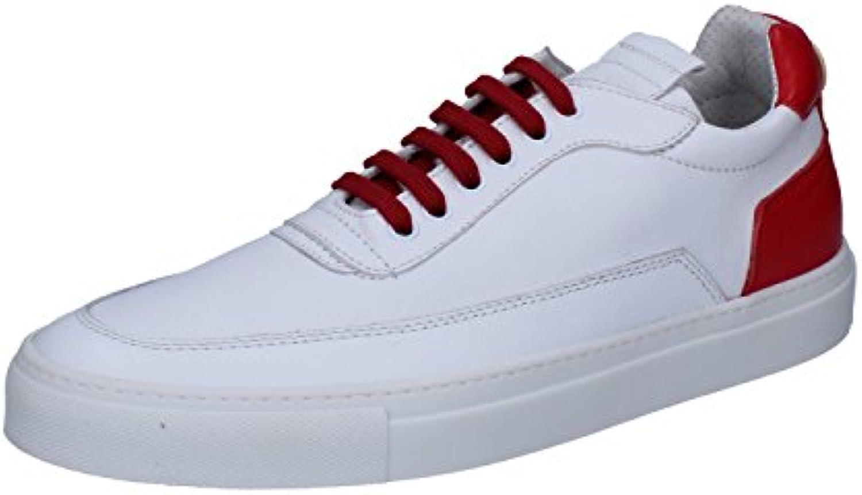 Mariano Di Vaio Sneaker Herren Mercury 774M Pelle kalbsleder weiß Rot