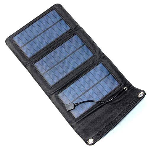 JAYLONG 5W Faltbare Solar Zelle, Tragbare 5,5 V Sicherheits-Solar-Ladegeräte Für Outdoor-Handys Aufladen Und Andere Moblie-Geräte,Black - Portable-rv-generator