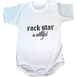 "Body para bebé ""Rock Star & ángel Blanco Talla: 62/68"