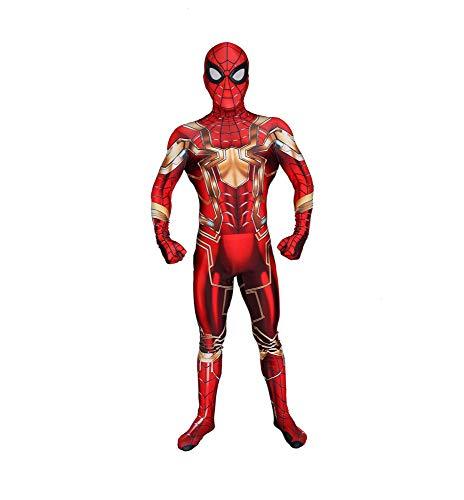 WSX Iron Man Cosplay Kostüm Halloween Event Anime Kostüm Dress Up Requisiten Kinder Erwachsene Kostüm Cosplay Kleidung,Children-XXL (Iron Weibliche Man Kostüm)