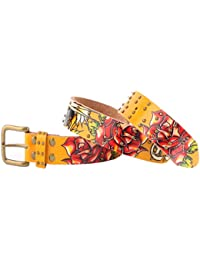 Ed Hardy EH3131 Open Mouth Tiger Girls-Leather Belt