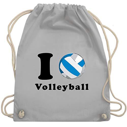 Volleyball - I Love Volleyball - Unisize - Hellgrau - WM110 - Turnbeutel & Gym Bag