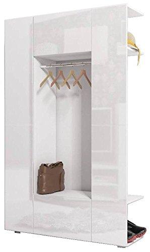 JUSTyou Cube Garderobenset Garderobe Garderobenschrank (HxBxT): 190x120x37 cm Weiß Matt | Weiß...