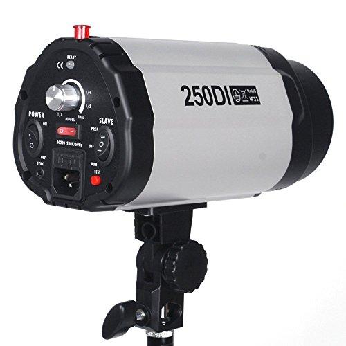 BPS 250W Fotostudio Studioleuchte Studioblitz Synchronblitzlampe mit 75W Einstelllicht