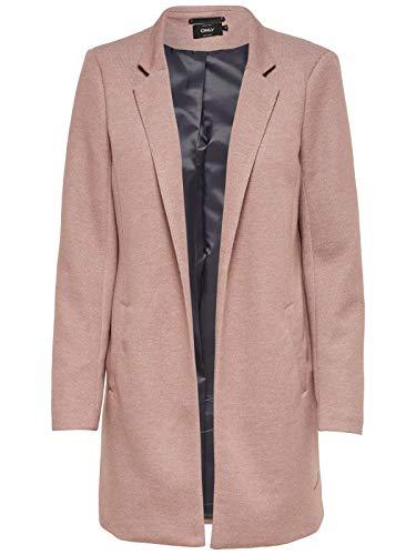 ONLY NOS Damen Mantel onlSOHO Coatigan NOOS TLR Rosa (Mocha Mousse Detail:Melange) 38 (Herstellergröße: M)