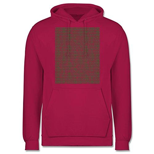 Programmierer - Binärcode - Männer Premium Kapuzenpullover / Hoodie Fuchsia