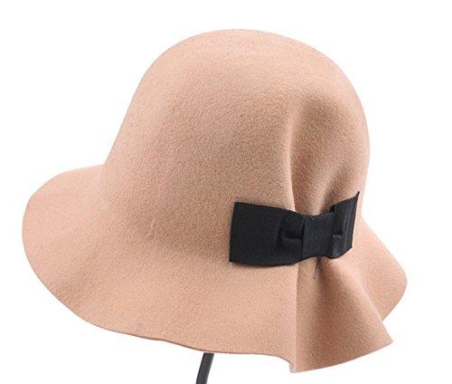 Automne Et Hiver Dame Arcs Doux Volants Chapeau De Tweed De Laine Chapeau De Soleil Dôme Casquettes Pêcheur Kaki