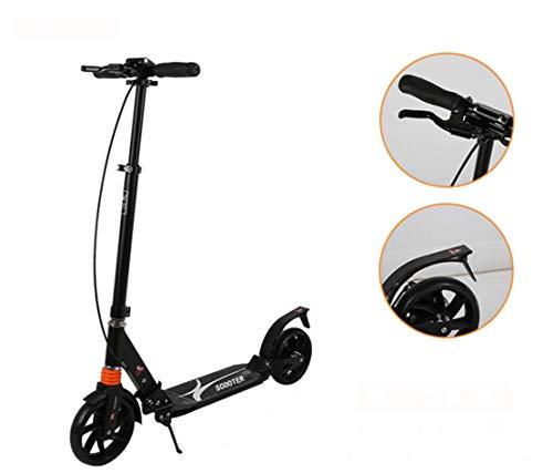 WEIGZ Erwachsener Roller Alle Aluminium-Legierung Roller Faltstraffung Zweirad-Kinderwagen,handbrake+footbrake