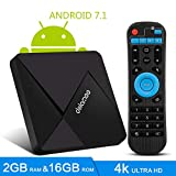 TV Box Android 7.1-Dolamee D5 Mini Smart TV Box con Amlogic S905W Quad Core 64 bits /4K HD/3D/Bluetooth 4.0/2.4GHz WiFi/LAN10/100M,2019 Set Top Box Media Player