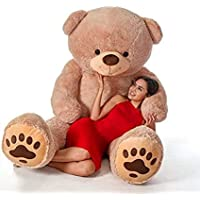 MSY TOYS Love Teddy Bear for Girls, Panda Teddy Bears Toys Big Size (Brown, 3 Feet)