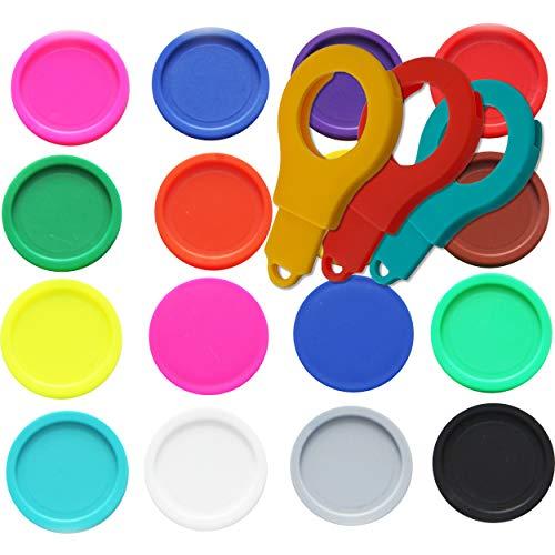 50 Einkaufswagenchips Pfandmarken EKW2 Wertmarken Farbe Bunt gemischt, Randmarken + 3 Chiphalter für Schlüsselbund von SchwabMarken