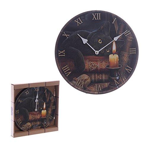 Zauberhafte Geisterstunde Katze Lisa Parker Design Wand Uhr (Lisa Parker Geisterstunde)