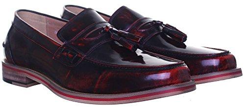 Reece Justin Denver mat Chaussures en cuir pour homme Rouge - Wine AV