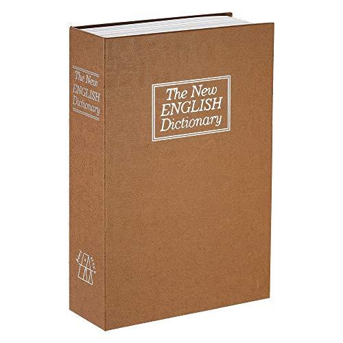 Decdeal Caja de Seguridad en Forma de Libros Cerradura de Combinación, 180x115x55mm