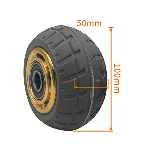 DXJL 4/5/6/8 Zoll Gummi Heavy Duty Silent-Caster Caster Rad Trolley Industrie Anhänger Rad Einzelnes Rad dauerhaft / 4 Zoll -