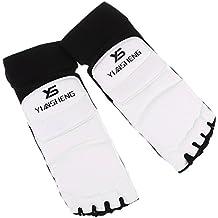 Sharplace 1 Par Almohadillas de Pie Protecci/ón con 1 Par Guantes Dedos Combate Arte Marcial Taekwondo Sparring