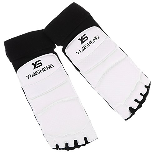 MagiDeal 1 Paar Taekwondo Fußschutz Schwammpolsterung Fuß Beschützer für Boxen, Muay Thai - S