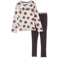 Tommy Hilfiger Girl's Pyjamas, White (White/Navy Blazer), 10 - 12 Years