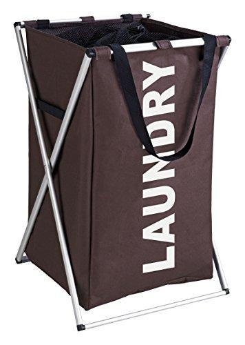 Wenko 3440011100 Cesta para la ropa marrón Uno - cesta para la ropa, 52 L, Poliéster, 35 x 57 x 38 cm, Marrón