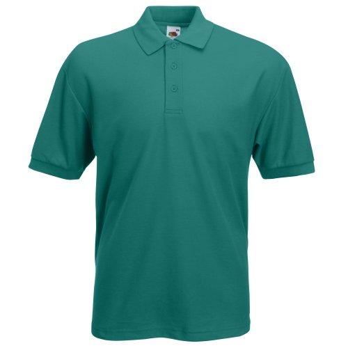 Fruit of the Loom Herren Poloshirt Bottle Green