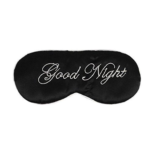 Zug Kostüm Familie - ITODA Schlafmaske, Augenmaske, Damen, Herren, Kinder, elastisch, Augenschutz aus Seide, Entspannung, Nachtband, bequem, Reise-Maske, für Flugzeug, Zug, Haus, Hotel Schwarz