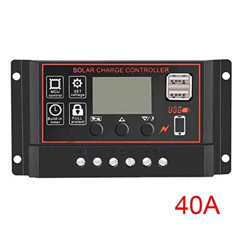 Republe PWM Doppel-USB Sonnenkollektor-Batterie-Regler Laderegler 12 / 24V LCD Display Solarregler