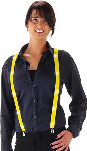 Preisvergleich Produktbild Fancy Kleid Neon farbigen Hosenträger mit LED-Leuchten – Gelb