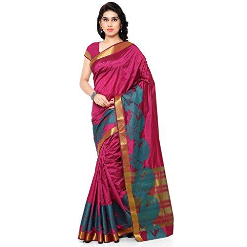 Varkala Silk Sarees-Magenta Palin Kanchipuram Art Silk Saree-ND1027MT