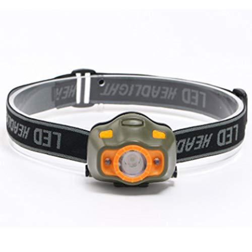 Naisicatar COB-LED-Stirnlampe, leistungsstark, LED-Stirnlampe,  4 Leuchtmodi, verstellbar, zum Laufen, Camping, Radfahren, Beleuchtung im Freien, benötigt 3 AAA-Batterien