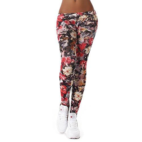 Damen Bunte Leggins für jeden Tag I Sexy bedruckte Leggings mit Muster oder Motiv I lange Sporthose für Yoga Zumba Gym Fitness Workout...