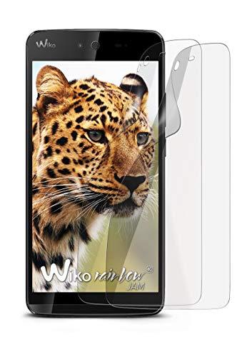 2X Wiko Rainbow Jam 4G   Schutzfolie Matt Bildschirm Schutz [Anti-Reflex] Screen Protector Fingerprint Handy-Folie Matte Bildschirmschutz-Folie für Wiko Rainbow Jam 4G Bildschirmfolie