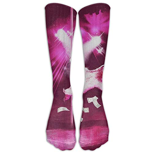 (Sexy Funny Pole Dancing Stripper Sloth Tube Socks For Women & Men - Graduated Athletic Fit For Running, Nurses, Flight Travel, Skiing & Maternity Pregnancy - Boost Stamina & Recovery 19.68 Inches)