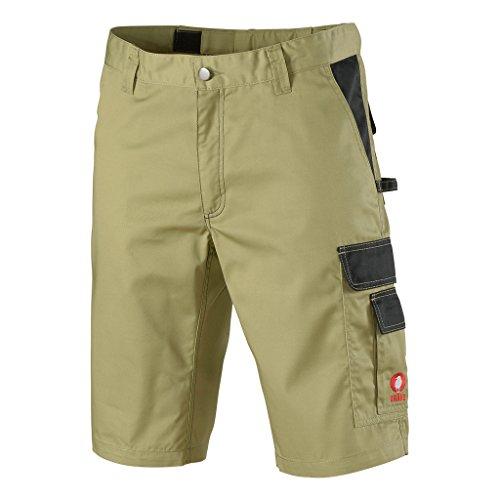 KRÄHE Krähe Kurze Arbeitshose Profession Pro Herren - angenehm & strapazierfähig, Sommer geeignet, 8 Taschen, Leichter Stoff in braun Größe 44