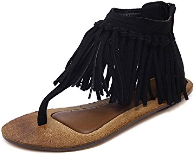 ac5b6de00d7ba5 fereshte woHommes 's 's 's style romain gladiateur flat fringe sandales  clip toe ferme ces mocassins b0725sd2dv parent | Vente 46d093