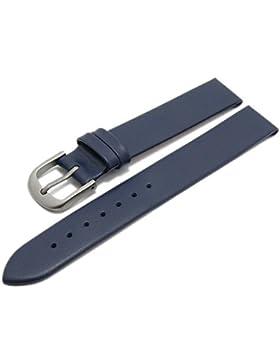 Meyhofer Uhrenarmband Nantes 14mm dunkelblau Kalb-Nappaleder Titanschließe glatt MyCrklb528/14mm/dblau/oN