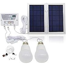 [6 W Panel plegable] yinghao sistema de funda para luz Solar, Solar Home sistema de CC Kit, 3,7 V recargable de litio – 6 W plegable Panel Solar sistema de ...