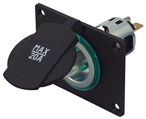 Preisvergleich Produktbild Power Steckdose mit Montageplatte, Spannhülse grün