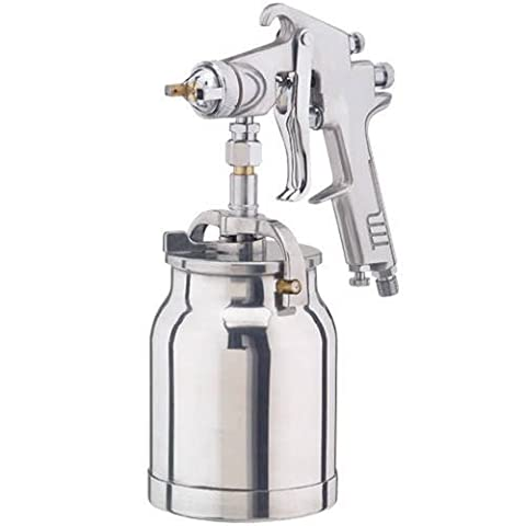 CLARKE AIR SPRAY GUN 1 LTR SYPHON CUP 1.8mm external