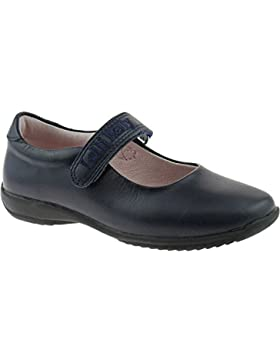 Lelli Kelly LK8218 (CE01) Navy Blue Leather Classic School Dolly Shoes F Width-24 (UK 6.5)