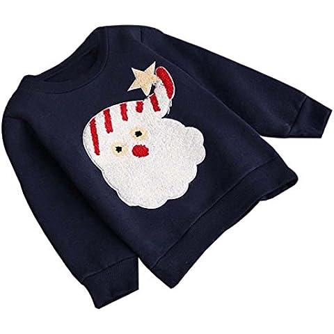 Koly_Ragazza di inverno Natale Outwear Felpa Giacche Cappotto