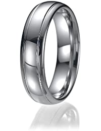 6mm Comfort Fit Unisex Tungsten Wedding Band Ring