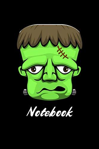 Notebook: Funny Cute Frankenstein Notebook Halloween Gift Blank Lined Journal