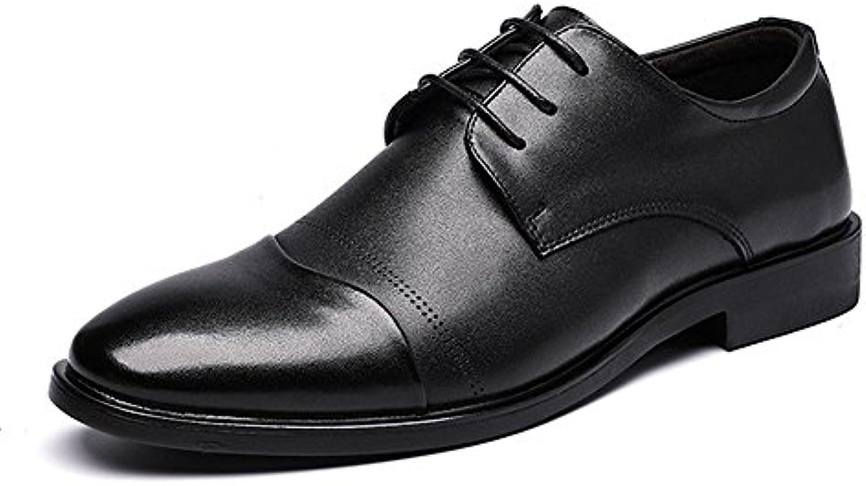IWGR Uomo Formale Formale Formale in Pelle PU Oxford Oxford Cuciture Cucite Design Morbido Suola Block Heel Traspirante 86cff5