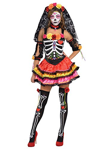 Amscan International Buntes Skelett Kostüm Dia de los -