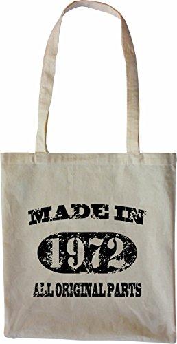 Mister Merchandise Tasche Made in 1972 All Original Parts 43 44 Stofftasche , Farbe: Schwarz Natur